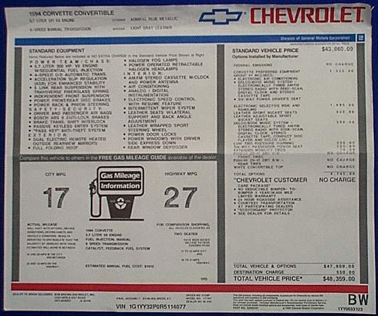 Corvette Spotlight Of The Month 1994 Corvette Convertible