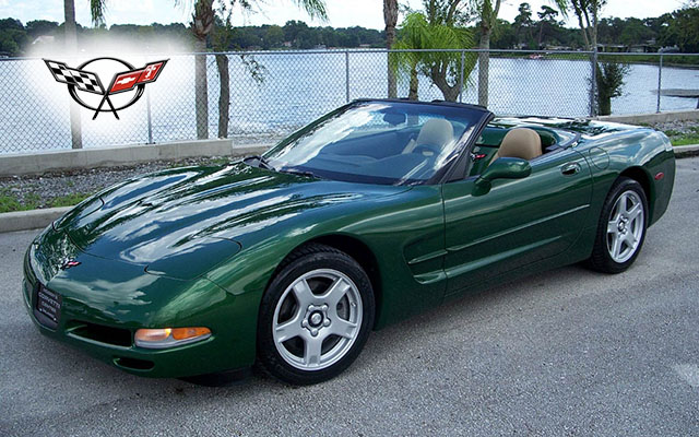 1998 Fairway Green Metallic Six Speed Convertible with only 11,000 Miles!