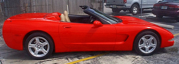 Convertible Corvette Side View 98 convertible - side view