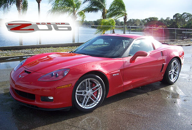 2007 Red Z06 Coupe with under 500 Miles!