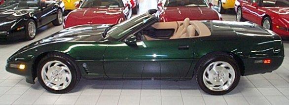 1996 Polo Green Corvette Convertible