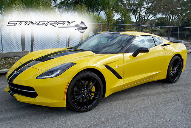 2014 Yellow Stingray Z51 Coupe with only 1,000 Miles!
