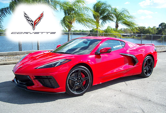 2020 Torch Red C8 Mid-Engine Corvette Coupe