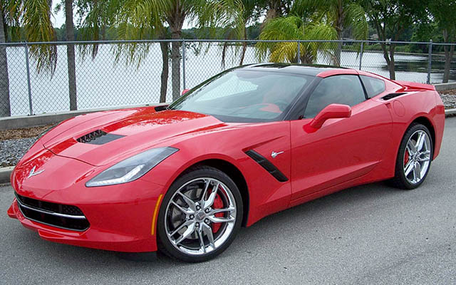 2014 Torch Red on Red Corvette Stingray Coupe with only 800 Miles!