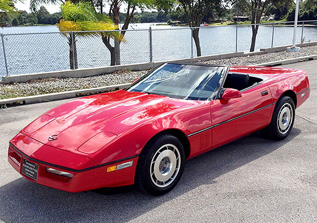 1987 Bright Red Convertible with only 44,000 Miles!