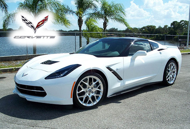 2017 Arctic White Corvette Stingray Coupe with only 2,000 Miles!